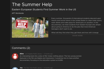 The Summer Help – now availableonline
